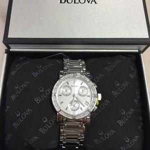 Bulova Diamond Chronograph Ladies Watch